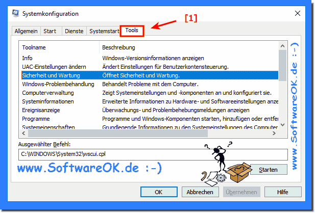 Systemkonfiguration Tools in Windows!