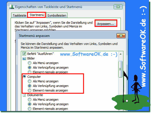 Windows-7 Explorer Startmenü Anpassen!