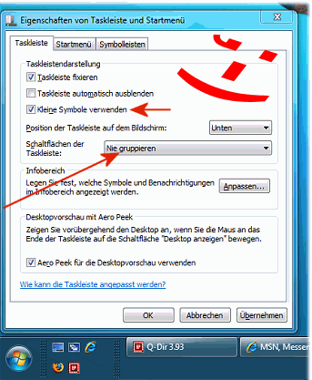 Windows 7 Taskleiste Klassisch