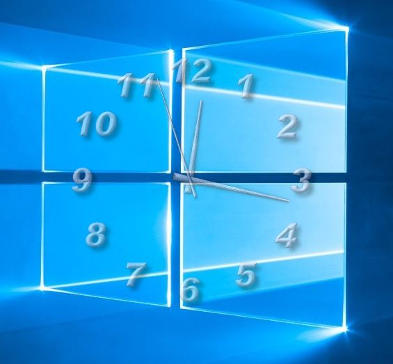 TheAeroClock 8 Desktop Uhr passend zum Windows-10 Logo